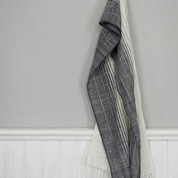 Raindrops on the Window Handwoven Cotton Scarf