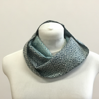 Ocean Rain Handwoven Cotton Cowl