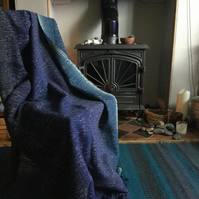 Handwoven Lambswool Whitby Harbour Blanket Throw