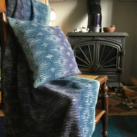 Handwoven Lambswool Whitby West Cliff Cushion