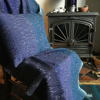 Handwoven Lambswool Whitby Harbour Cushion