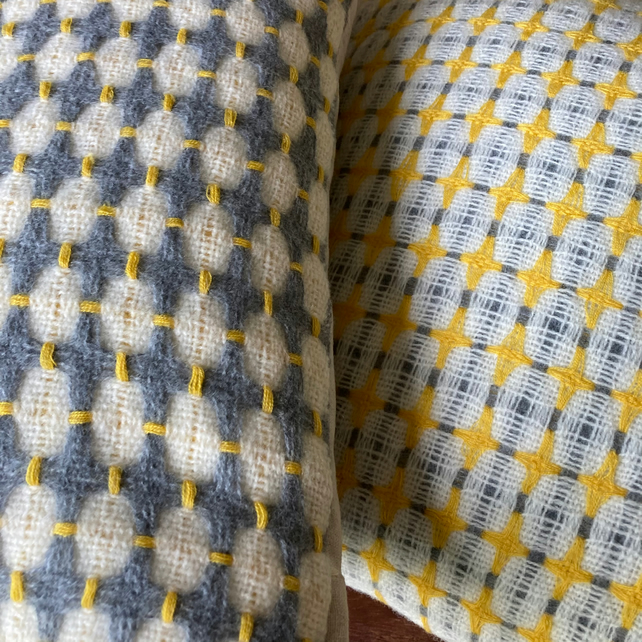 Narcissus Handwoven Deflected Doubleweave Cushion