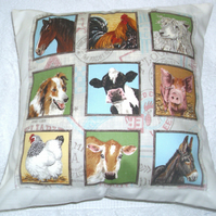 ON the Farm Animals cushion