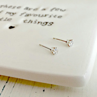 Cubic Zirconia - ear studs - sparkly studs - The perfect Christmas earrings!