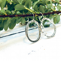 Stepping Stones - multi textured - patterned earrings - sterling silver - UK
