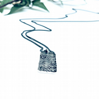 Beaten Track - medium tag necklace - personalised-jewellery - textured necklace