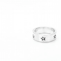 STAR - Sterling Silver star rings - handmade wedding rings - unisex - Silver