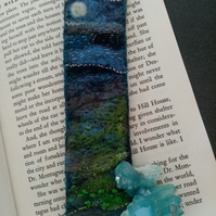 Needlefelt and hand embroidered bookmark (free p&p in UK)