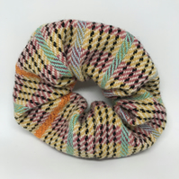 Hand Woven Accent Stripe Cunky Scrunchie