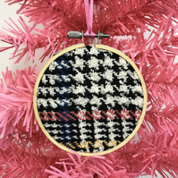 Handwoven Checked Christmas Decoration