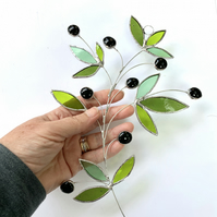 Stained Glass Olive Branch Suncatcher - Handmade Window Decoration