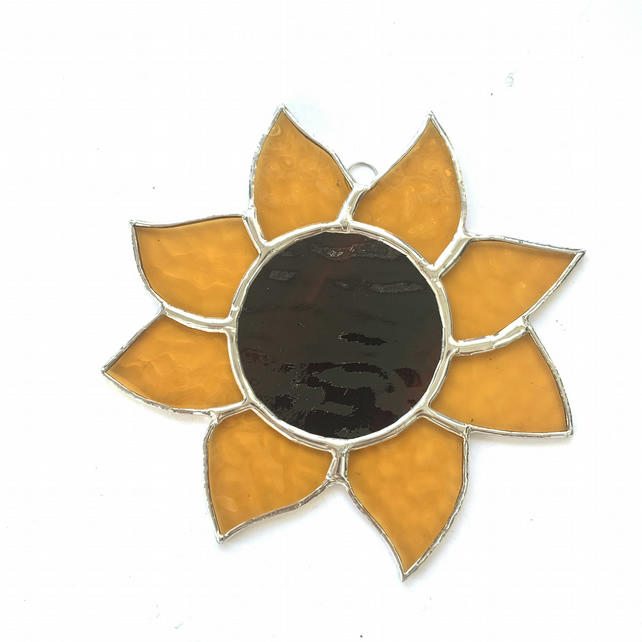Stained  Glass Sunflower Suncatcher - Handmade Window Decoration