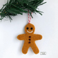 Gingerbread man Christmas decoration, needle felted by Lily Lily Handmade
