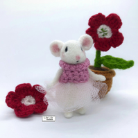 Mouse, Sugar Plum, needle felted by Lily Lily Handmade