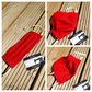 Face mask, medium,  3 layer, nose wire,  machine washable in red cotton