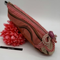Pencil case shoe in 2 tone pink and bronze, free uk delivery.