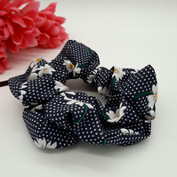 Scrunchie in navy daisy,  3 for 2 offer.