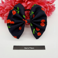 Hair bow bobble,  navy cherry,  3 for 2 offer.