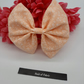 Hair bow bobble,  peach floral,  3 for 2 offer.
