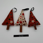 Cinnamon tree Christmas decorations set of 3.