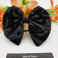 Hair bow, black pattern,  3 for 2 offer.