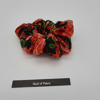 Red rose hair scrunchie, 3 for 2 offer, free uk delivery