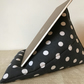 Ipad Pillow - Kindle Cushion - Mobile Tablet Prop - Polka Grey Cotton