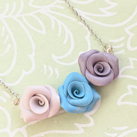 Pastel Roses necklace