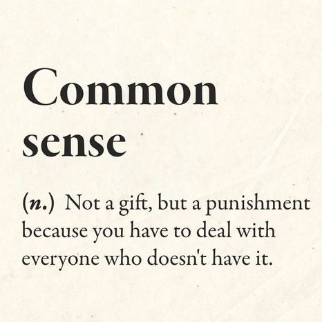 Definition of Common Sense Magnet