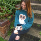 Owl Jumper KNITTING PATTERN in PDF with Oliver Owl intarsia motif, adult sizes