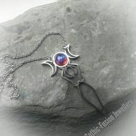 RESERVED FOR AMANDA Dragons Breath and Blue Goddess Necklaces