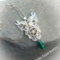 PRIVATE ORDER FOR  DEBBI ... Two Heads Are Better Than One Dragon Necklace