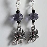 Halloween Spider Dangle earrings
