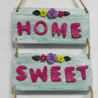 Rustic Home Sweet Home wall plaque.