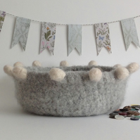 FELTED 'FUSSPOT'  BOWL , tray , desk tidy . ' Hygge ' ...ready to ship...
