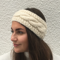 EARWARMERS , headband. Alpaca, wool blend . Supersoft . Country Cream'