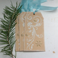 CHRISTMAS GIFT TAGS  ( set of 3) Snowflakes. Elegant Swirl . Winter.