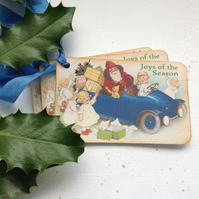 CHRISTMAS GIFT TAGS ( set of 3) Vintage-style. ' Santa's Helpers '.