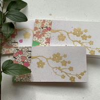 GIFT TAGS, . ( set of 3 )  ' Cherry Blossom 3' . Flowers. Spring.