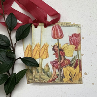 GIFT TAGS ( set of 3 ) vintage style .Flower Fairies - 'Spring Tulips  '.