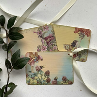 GIFT TAGS ,  vintage style ,  ( set of 3 )  Flower Fairies - 'Summertime  '
