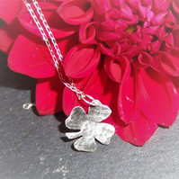 Shamrock pendant in sterling silver