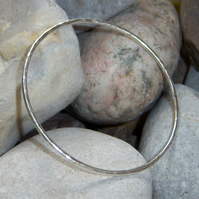 Skinny bangle in sterling silver