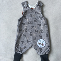 Age 6-9 month, Reversible romper dungaree