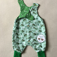 3 months, Reversible Romper, Dungarees
