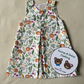 Age 3 years, reversible pinafore dress.