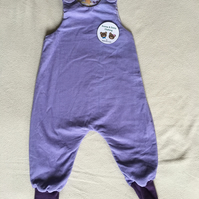 Age 18 months, reversible dungarees romper