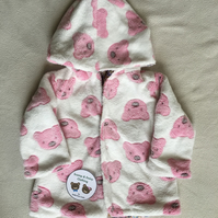 Age 6 - 9 months, reversible fleece coat