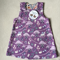 Age 1 year, Reversible Pinafore Dress.