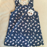 Age 4 years - reversible dress - animal and floral